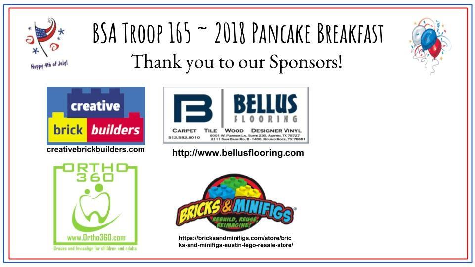 Pancake Sponsors